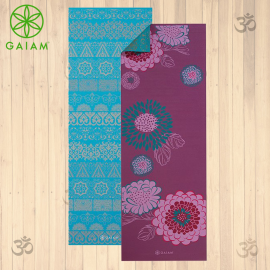 Gaiam Kiku Tappetino Yoga Reversibile 6mm Pratica Yoga Asana