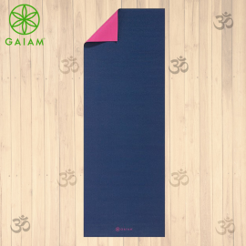 Gaiam 2 Colors Premium Navy Blue Tappetino Yoga 5mm Pratica Yoga Asana