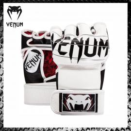 Venum Undisputed 2.0 Nappa White Guanti MMA Grappling Gloves Krav Maga