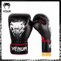 VENUM Contender Junior Nero/Rosso Guantoni Bambino Boxe Muay Thai Kickboxing