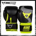 Ringhorns Charger Nero Giallo Guantoni Boxe Muay Thai Kickboxing