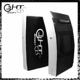 G5-HT Scudo Grande per Calci Bianco-Nero Colpitore Muay Thai Arti Marziali Karate Krav Maga