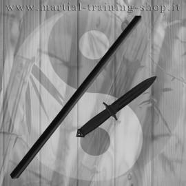 Set Bastone Imbottito e Coltello Double Edge in Polipropilene per Allenamento Arti Marziali Krav Maga Kali