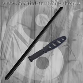 Set Bastone Imbottito e Coltello Corto in Polipropilene per Allenamento Arti Marziali Krav Maga Kali