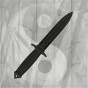 Coltello corto in polipropilene Double Edged Allenamento Arti Marziali Kali Filippino
